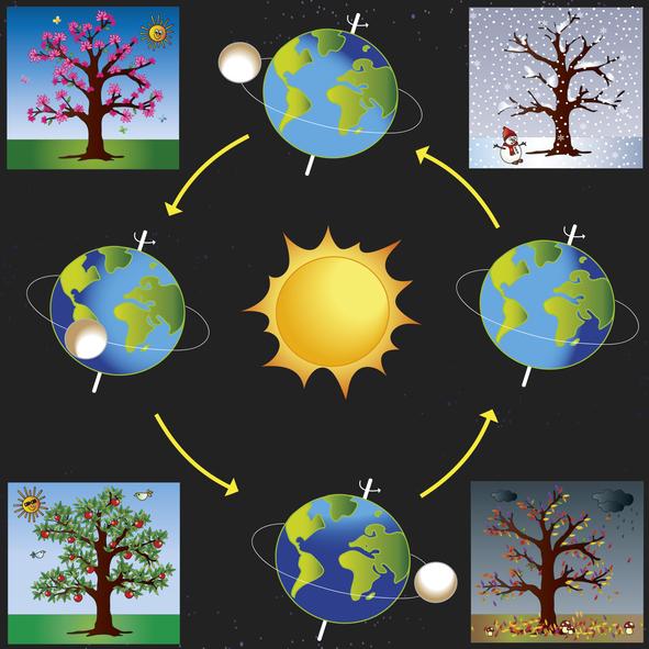 Expliquer les saisons